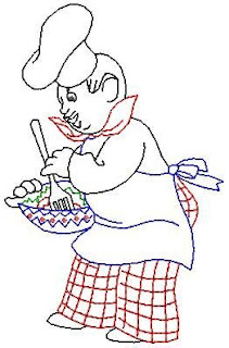 risco de cozinheiro para pintar