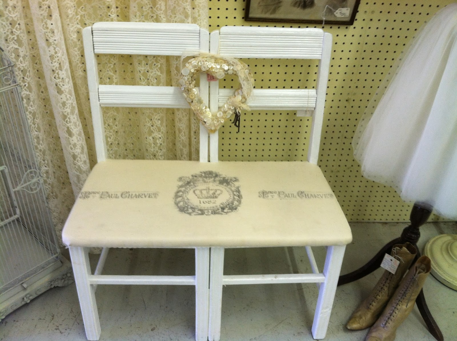well the fun continues i got this double chair bench put together for