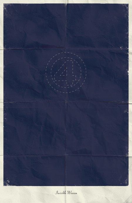 marko manev ilustração poster minimalista super heróis marvel Mulher Invisível