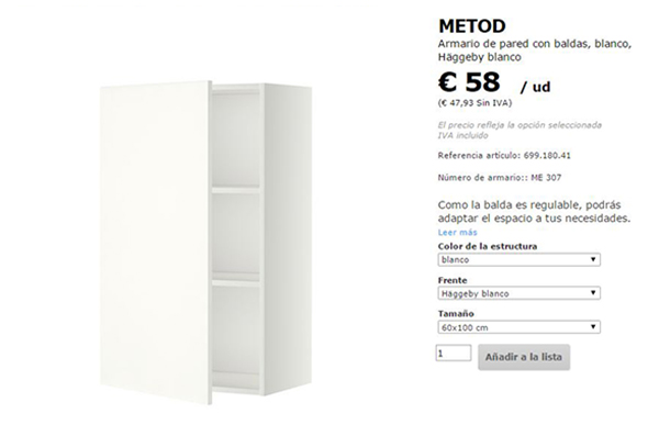 La neurona del manitas Zapatero con un mueble de cocina METOD de Ikea