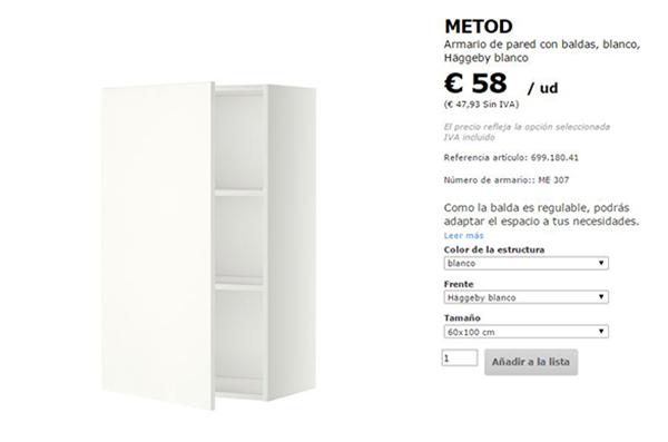 ... poner mu00e1s de 2 baldas, debu00e9is comprar tambiu00e9n baldas extra en IKEA
