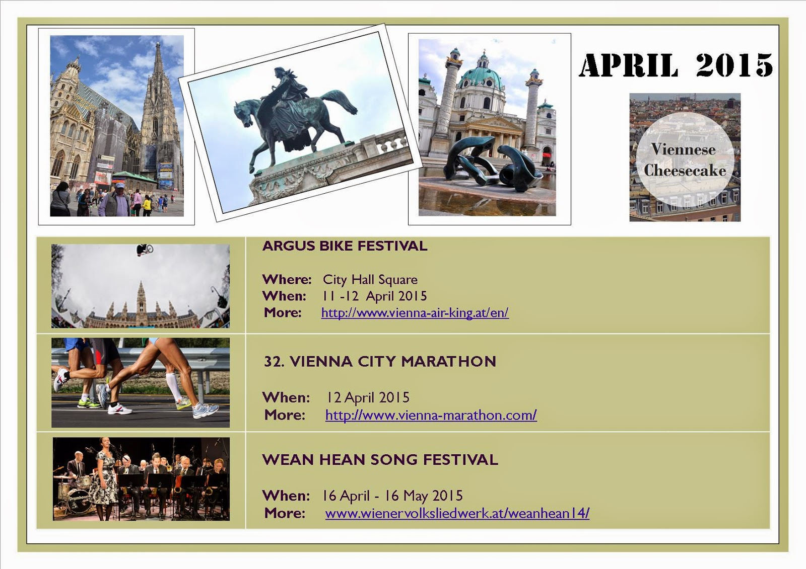 Vienna events April