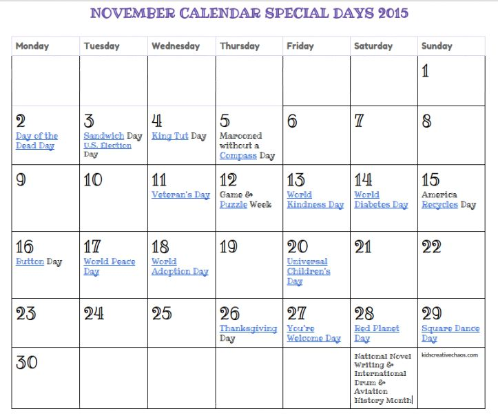 2013 special observances calendar | just b.CAUSE