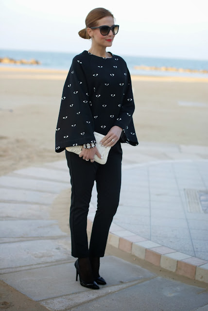 Kenzo eye print kimono sweatshirt, Miu Miu clutch, Fashion and Cookies, fashion blogger