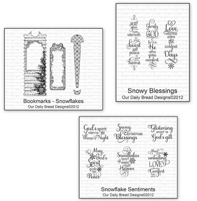 Our Daily Bread Designs Bookmarks - Snowflakes, Snowflake Sentiments, Snowy Blessings