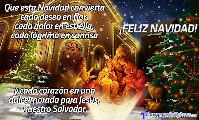 Mensaje de navidad cristiano en imagen