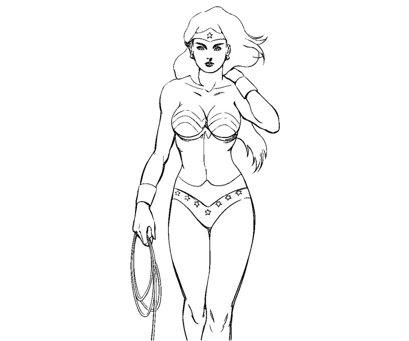Printable Wonder Woman 5 Coloring Page title=
