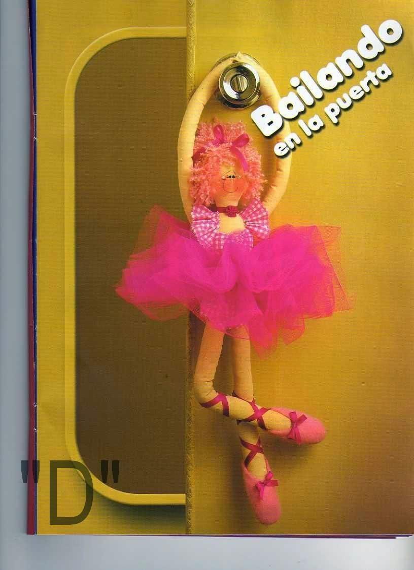 Moldes e passo a passo boneca bailarina