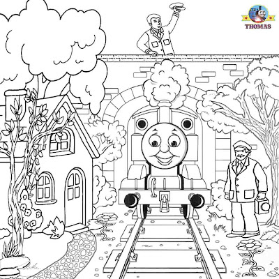 Free childrens colouring worksheets Thomas and Friends clipart printable pictures for railway trains
