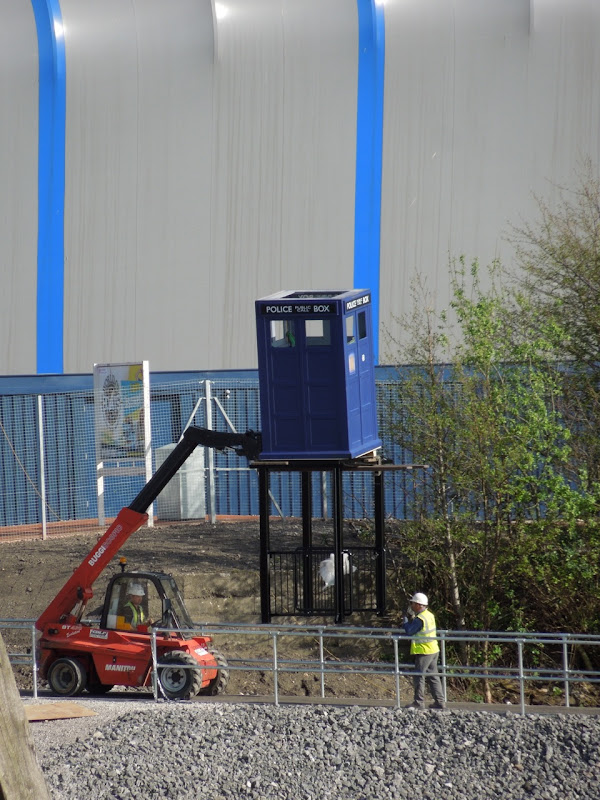 TARDIS installation Doctor Who Experience Cardiff Bay