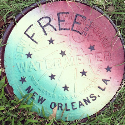 New Orleans PAanted Water Meter Street Art