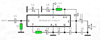 6 - 12 Volt amplifier circuit