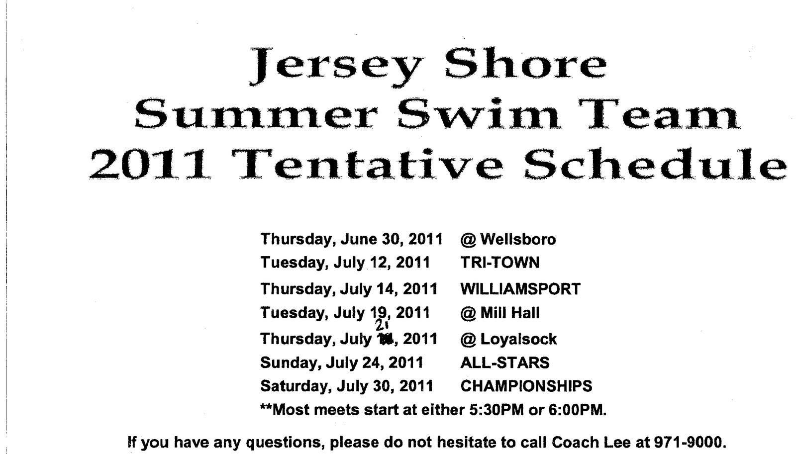 Jersey Shore Pa Swim May 2011
