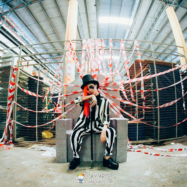 May Ng dressed up as G-Dragon for the K-Pop MV Shoot