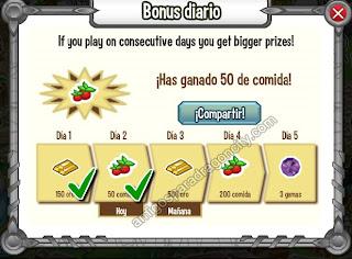 imagen del bonus diario dragon city