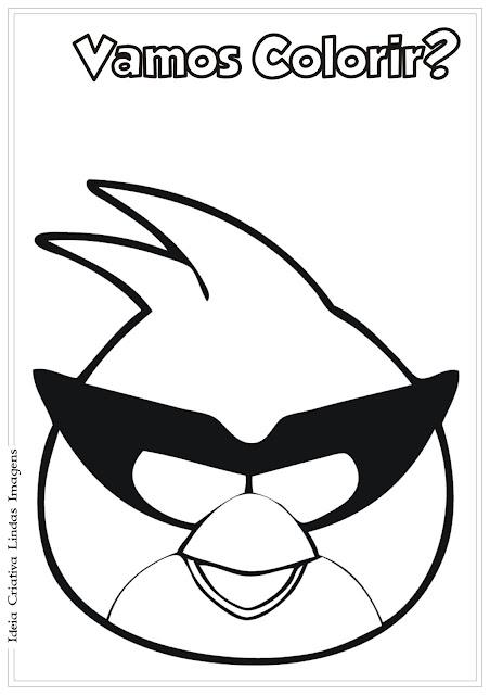 Angry Birds desenho para colorir