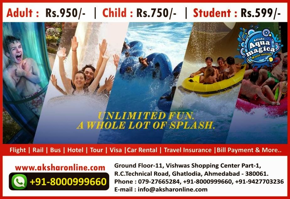 Aqua Magica - Unlimited Fun A Whole Lot of Splash - WaterPark Ticketing, Adlabs Imagica Ticket Booking, Imagica Ticket Couter, Imagica Ticket Agency, AquaMagica Ticket, Sasta Flight Ticket, AquaMagica Flight Package & More...