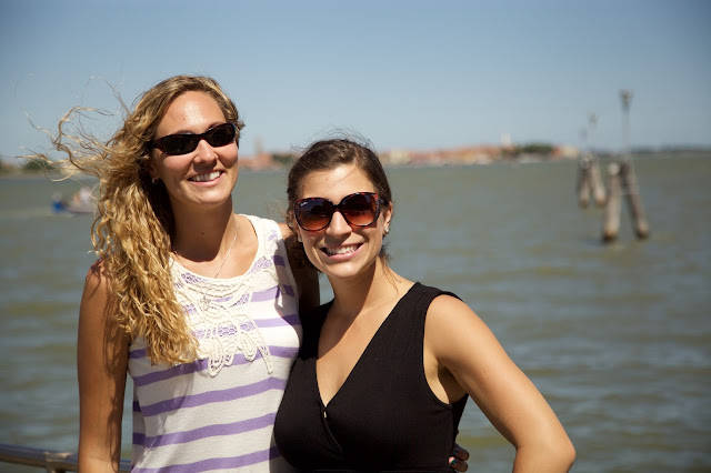 smiling girls off Venice island tour