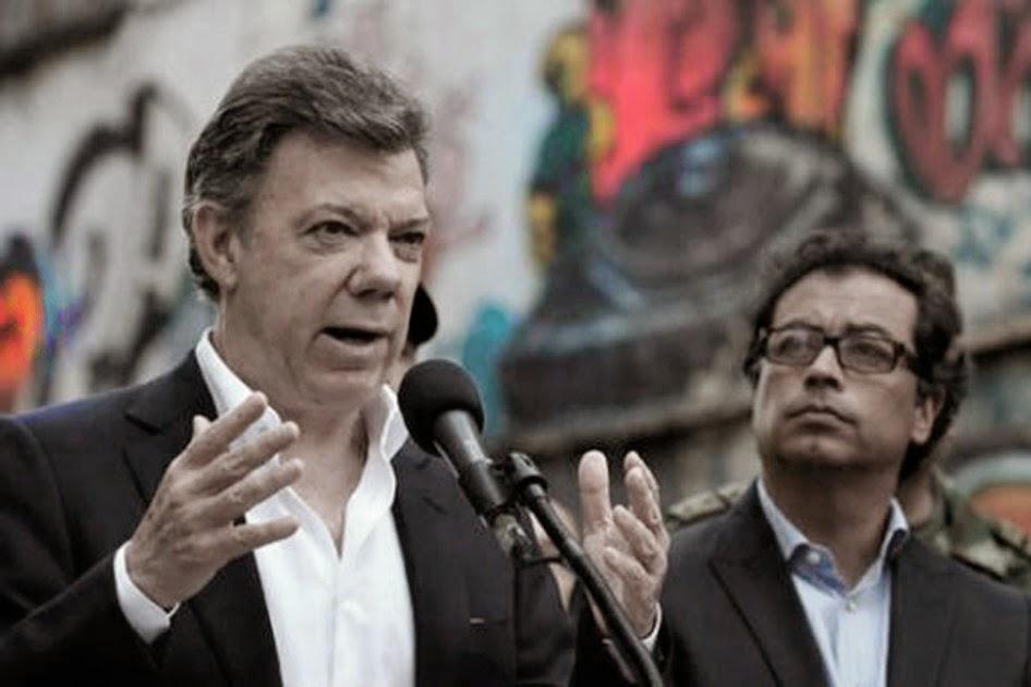 Santos y Gustavo Petro