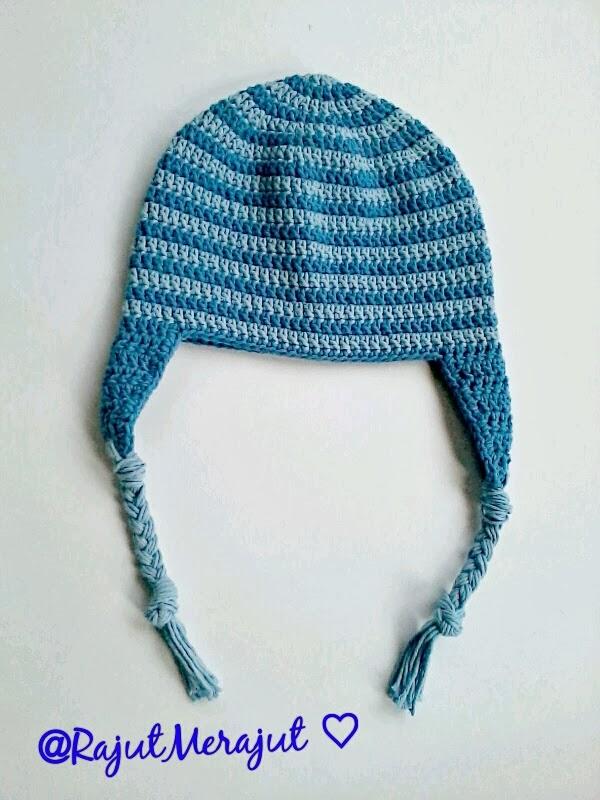 Crochet hat, crochet earflap, crochet baby hat, topi rajut, topi rajut bayi, topi bayi