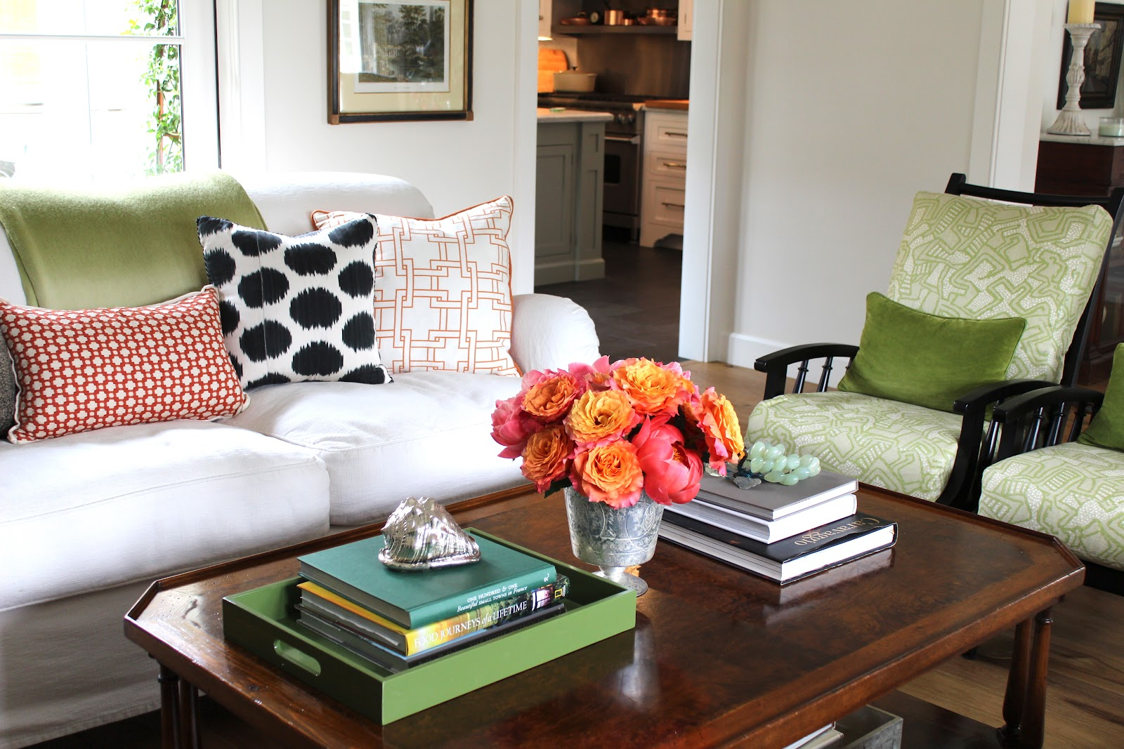stylist better homes and gardens living room furniture. Laura  the stylist brought these bright peonies and roses mixed up my pillows Alie John now have those pillow addiction has moved on Our Home in Better Homes Gardens Classic Casual