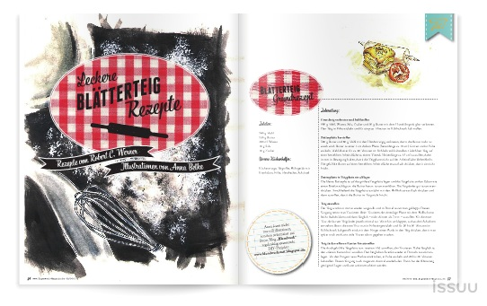 Rezepte Magazin blendwerk rezept illustrationen im eigenwerk magazin