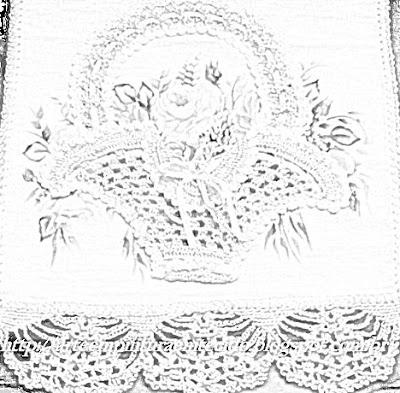 pintura em tecido e crochê