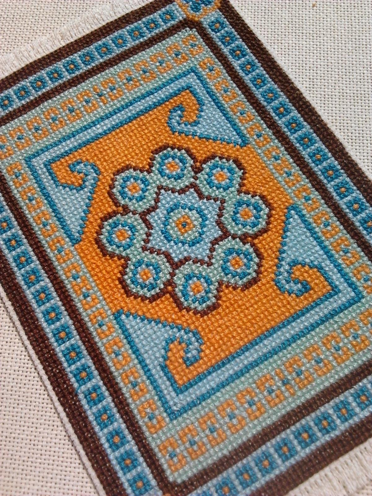 Вышивка крючком ковров 44