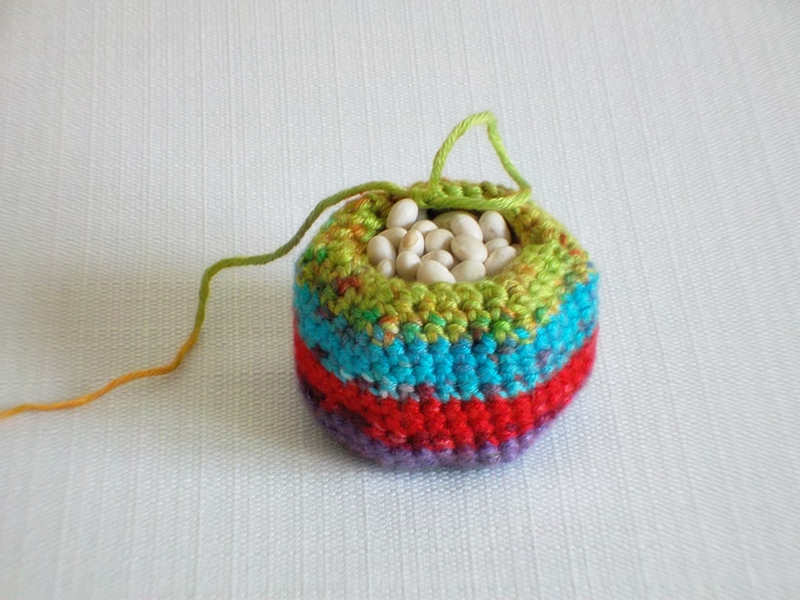 Crochet Bean Bag Tutorial : The Chilly Dog: Post #250 - Crocheted Bean Bag Ball Pattern