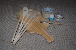 diy pinta utensilios madera