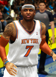 NBA 2K13 Carmelo Anthony Cyber Face Patch