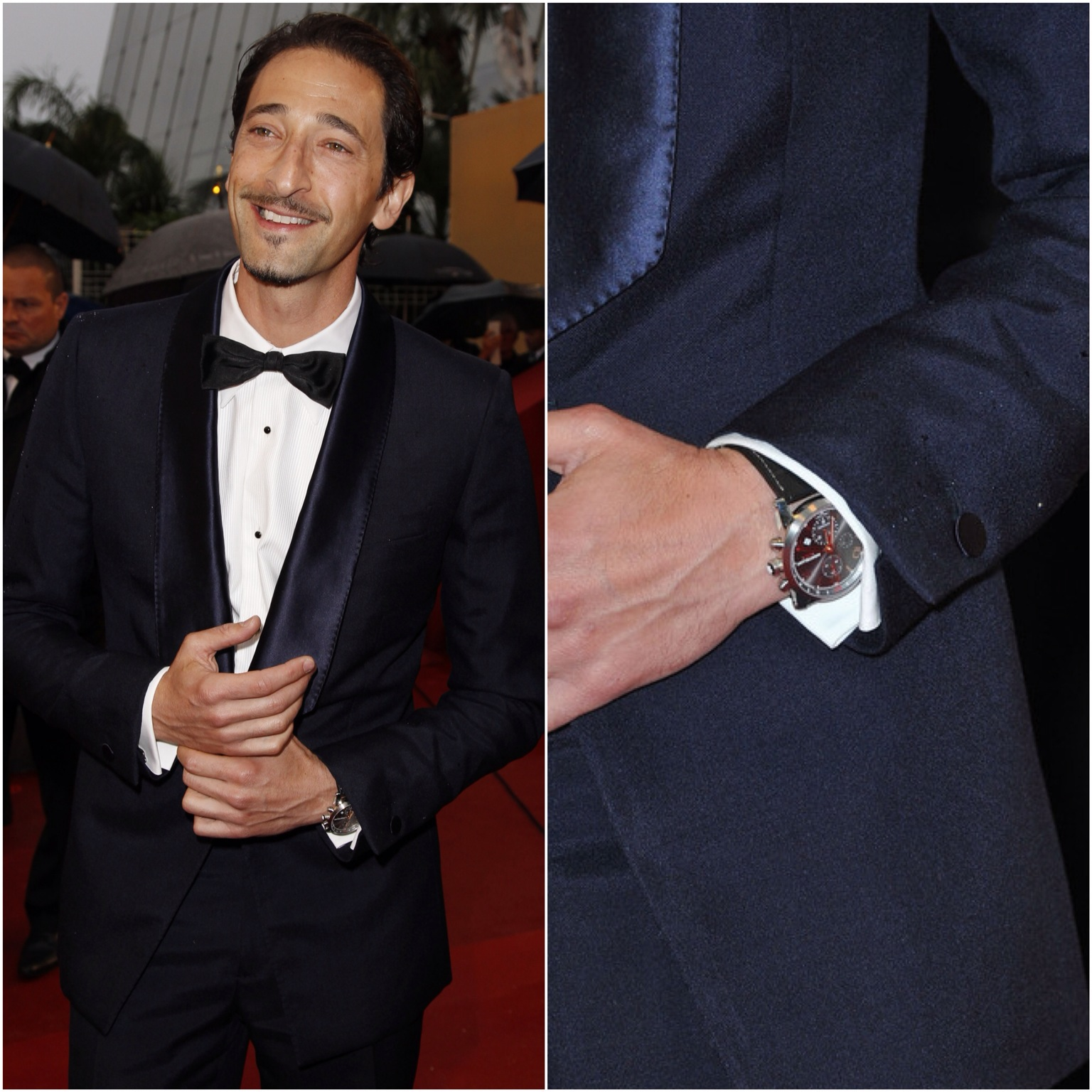 00O00 Menswear Blog Adrien Brody with MONTBLANC TIMEWALKER CHRONOVOYAGER UTC WishlistWednesday