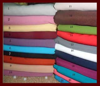hijab segi empat 2 warna