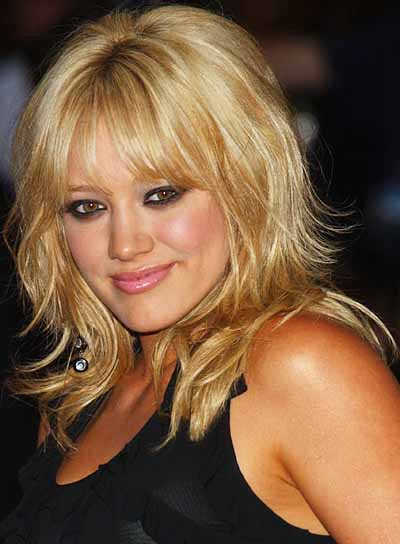 hairstyles with fringes. Hilary Duff Haircut