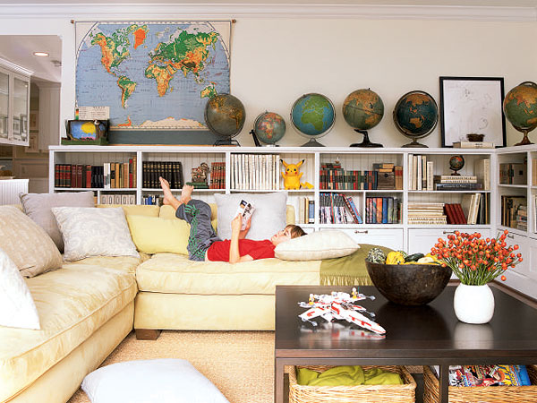 New home interior design treat it differently living room for Playroom living room ideas