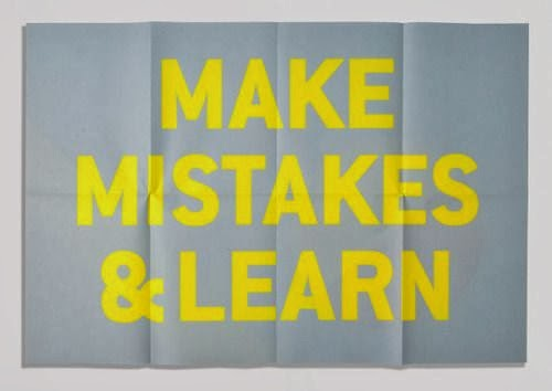 make mistakes and learn