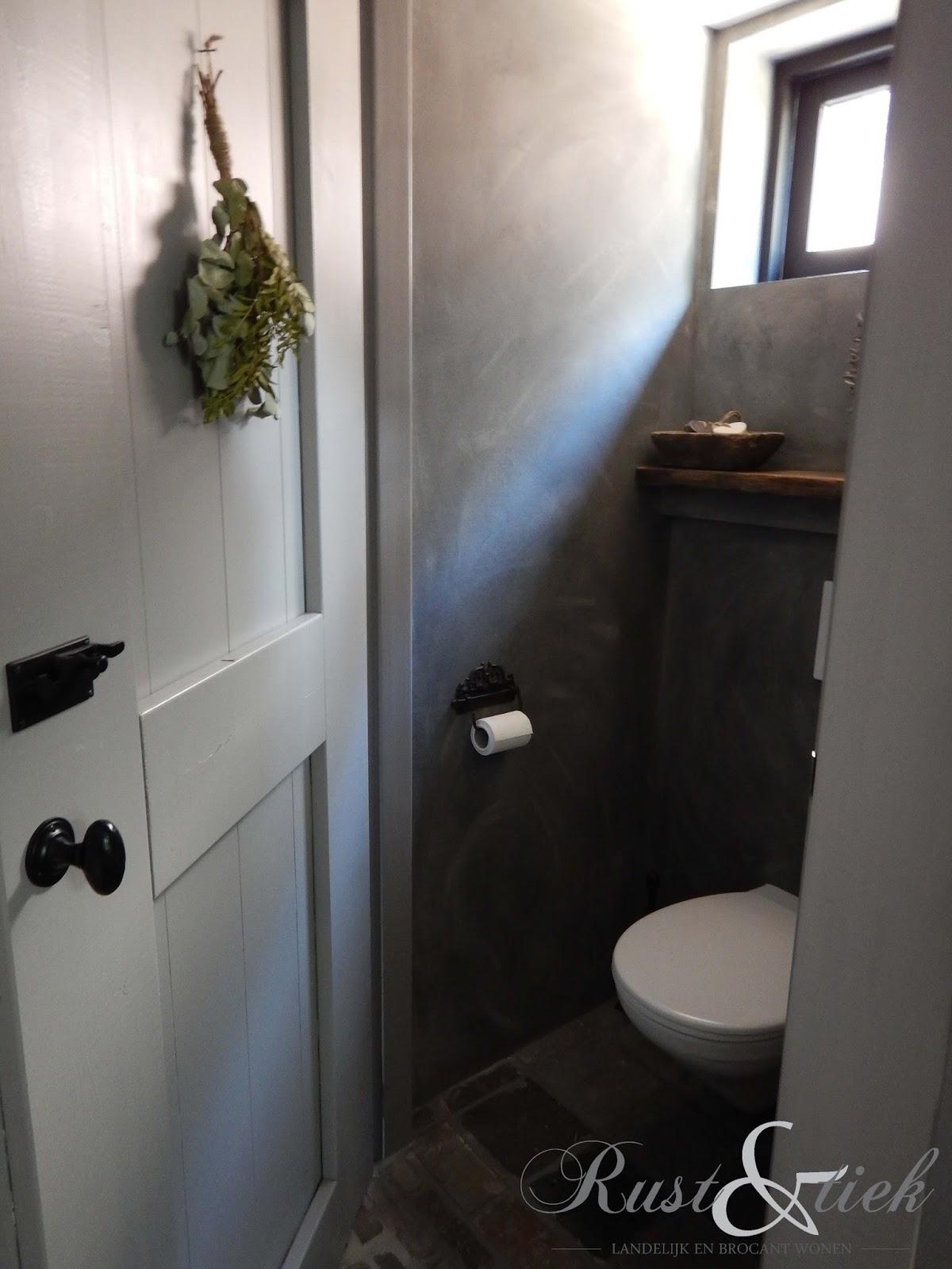 Rust en tiek toilet met betonlook van mia colore - Muur wc ...