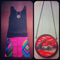 Pyramid Egypt Necklace in Neon