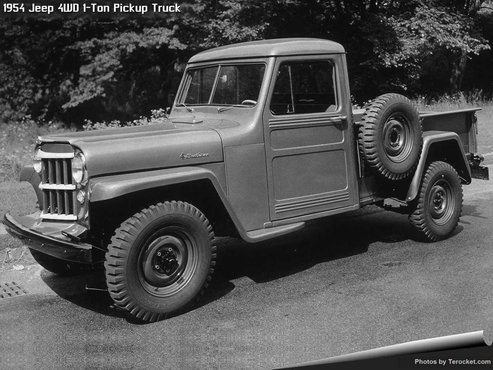 Hình ảnh xe ô tô Jeep 4WD 1-Ton Pickup Truck 1954 & nội ngoại thất