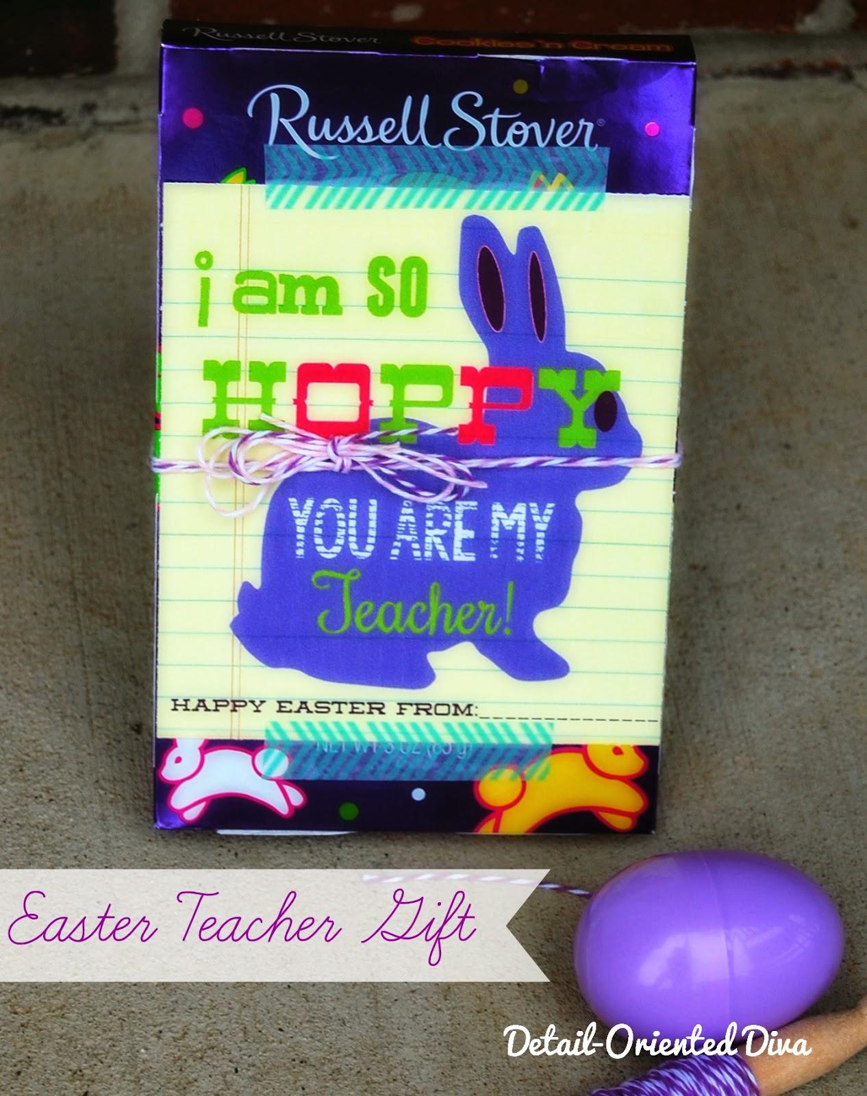 So hoppy teacher gift idea free printable negle Choice Image