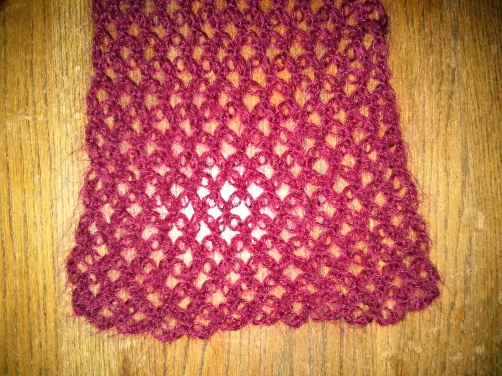 Mis cositas de punto bufanda de lana a ganchillo nudo salom n - Puntos de lana ...