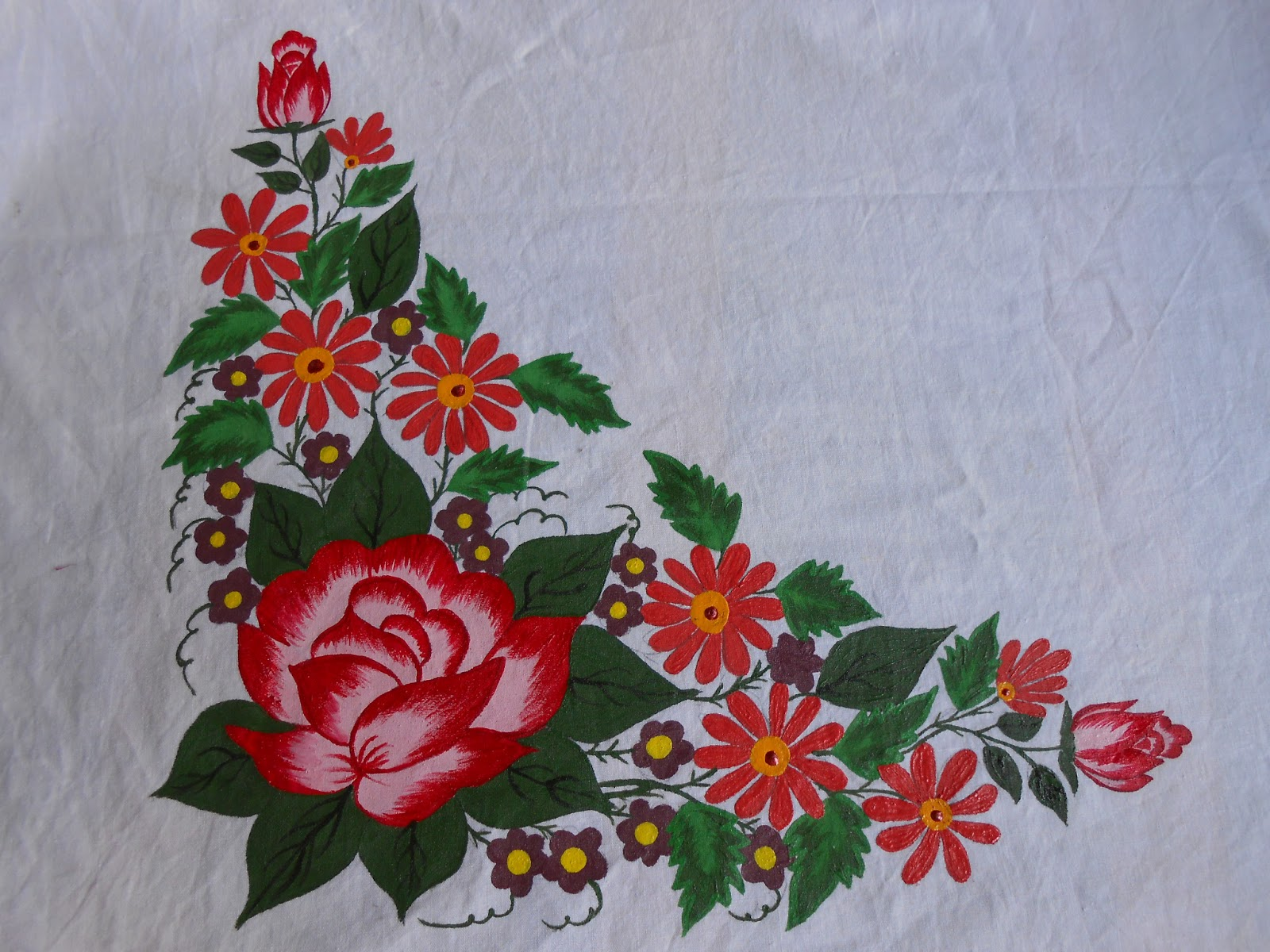 Table cloth design for painting the for Table design cloth