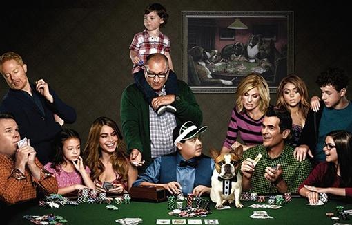 Cartel promocional de la sexta temporada de Modern Family