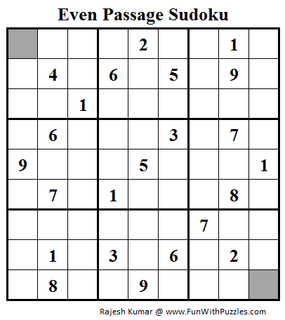 Even Passage Sudoku (Daily Sudoku League #91)