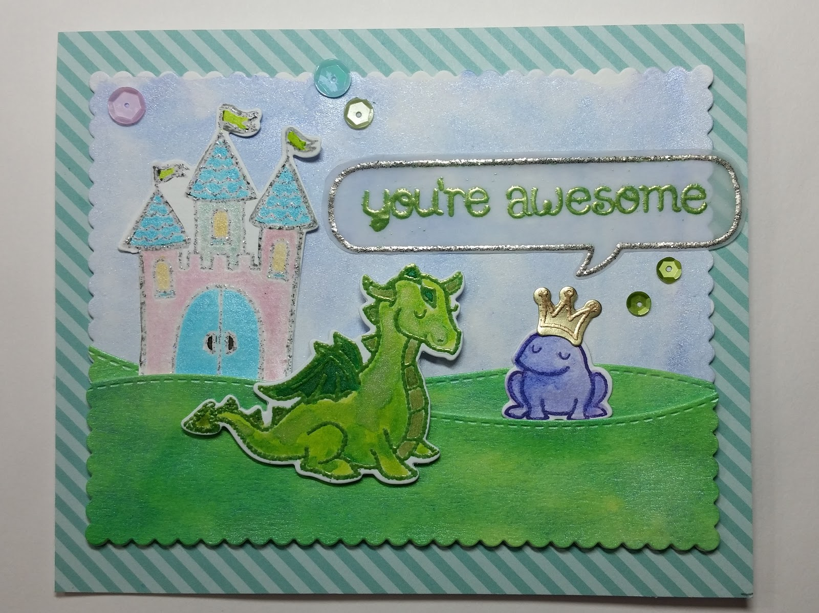 Lawn Fawn Critters ever after, Lawnscaping Challenge