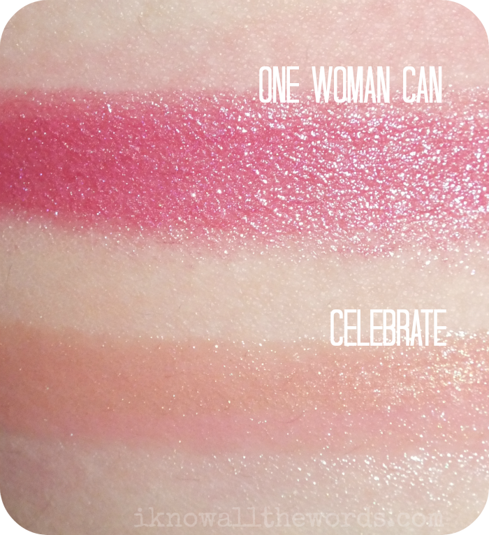Mary Kay Beauty That Counts Cream Lipstick - One Woman Can  and Mary Kay Beauty That Counts NouriShine Plus Lip gloss in Celebrate