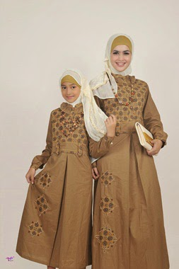 Contoh Model Baju Batik Muslim Anak