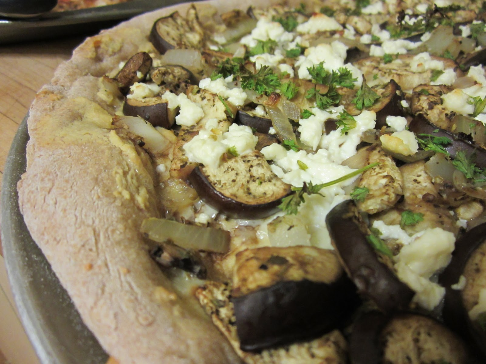 The Scarlet Spoon: Roasted Eggplant and Hummus Pizza