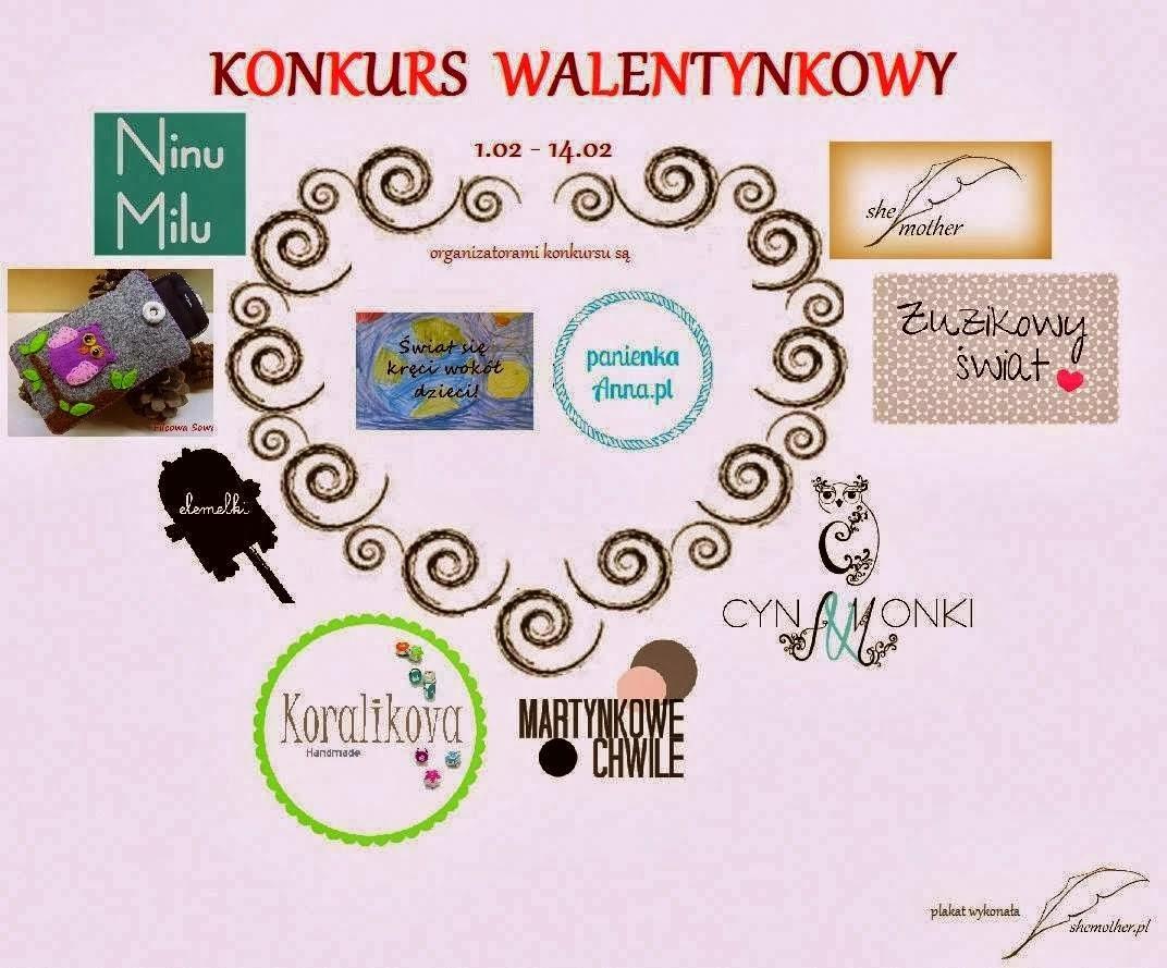 Plakat konkursowy Świat się kręci wokół dzieci i Panienka Anna