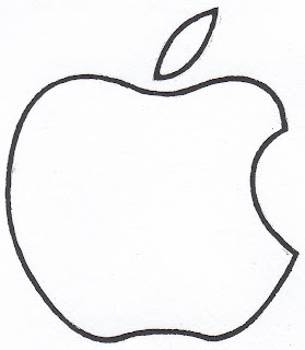 Large Apple White Logo